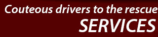 Courteous drivers to the rescues. See services